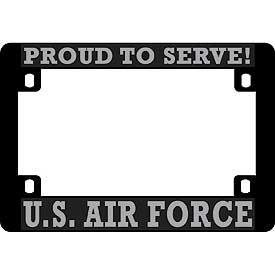 U.S. Air Force Heavy Plastic Motorcycle License Plate Frame - HATNPATCH