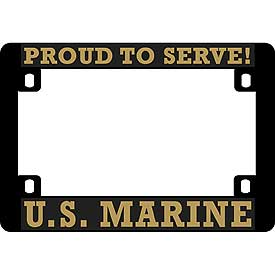 U.S. Marine Heavy Plastic Motorcycle License Plate Frame