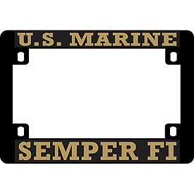 US Marine Semper Fi Heavy Plastic Motorcycle License Plate Frame