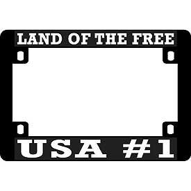 Land Of The Free Heavy Plastic Motorcycle License Plate Frame - HATNPATCH