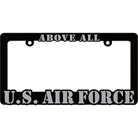 Above All U.S. Air Force Heavy Plastic License Plate Frame - HATNPATCH