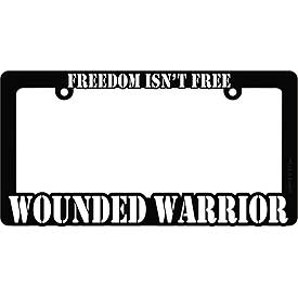 Wounded Warrior Heavy Plastic License Plate Frame
