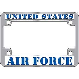 United States Air Force Metal Motorcycle License Plate Frame