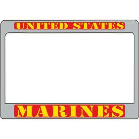 United States Marines Metal Motorcycle License Plate Frame