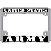 United States Army Metal Motorcycle License Plate Frame - HATNPATCH