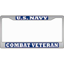 U.S. Navy Combat Veteran License Plate Frame - HATNPATCH
