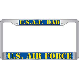 U.S.A.F Dad U.S. Air Force License Plate Frame