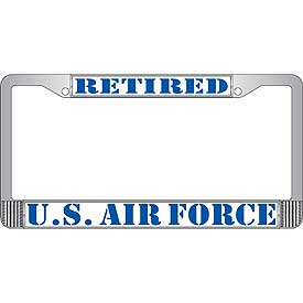 Retired U.S. Air Force License Plate Frame - HATNPATCH
