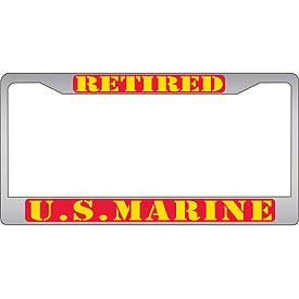 Retired U.S. Marines License Plate Frame