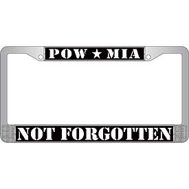 POW MIA Not Forgotten License Plate Frame