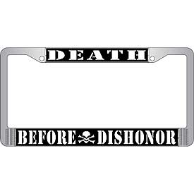 Death Before Dishonor License Plate Frame