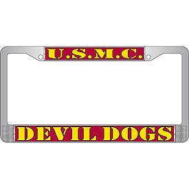 U.S.M.C. Devil Dogs License Plate Frame