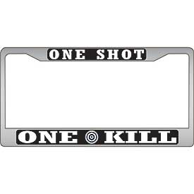 One Shot One Kill Sniper License Plate Frame