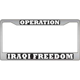 Operation Iraqi Freedom License Plate Frame - HATNPATCH
