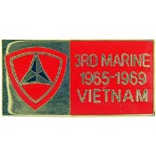 3rd Marine Division Vietnam Hat Pin
