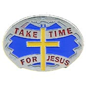 Take Time For Jesus Pin with Cross
