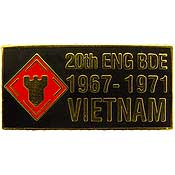 20th Engineer Brigade Vietnam Hat Pin - HATNPATCH
