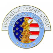 US NATIONAL GUARD DESERT STORM HAT PIN - HATNPATCH
