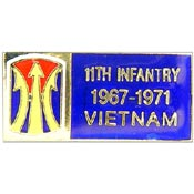 11th Infantry Vietnam Hat Pin - HATNPATCH
