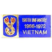 196th Infantry Vietnam Hat Pin - HATNPATCH