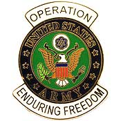 US Army Operation Enduring Freedom Hat Pin - HATNPATCH