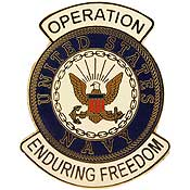 US Navy Operation Enduring Freedom Hat Pin - HATNPATCH