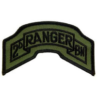 2nd Ranger Bn Rocker Tab Subd Army Patch - HATNPATCH