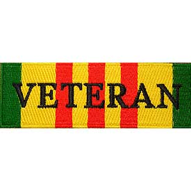Vietnam Service Ribbon w/Veteran Patch - HATNPATCH