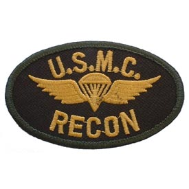 USMC Recon w/ Wings Marine Corps Patch
