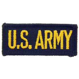 US Army Tab Small GLD/BLK Patch - HATNPATCH