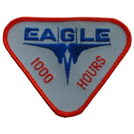 Eagle 1000 Hours Air Force Patch