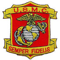 USMC Semper Fidelis Shield Marine Corps Patch