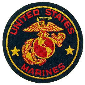 United States Marines Black Patch - HATNPATCH