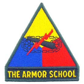 The Armor School Army Patch