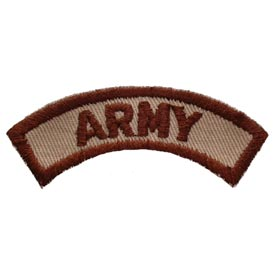 Army Rocker Tab Desert Patch - HATNPATCH