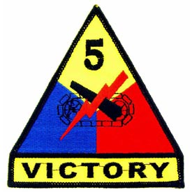 5th Armored Division Army Patch - HATNPATCH