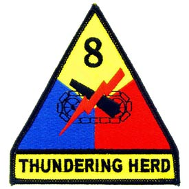8th Armored Division Army Patch