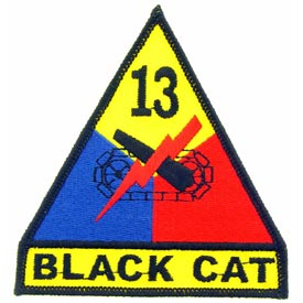 13th Armored Division Army Patch