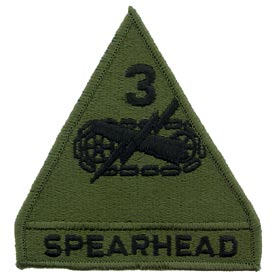 3rd Armored Division OD Subd Army Patch