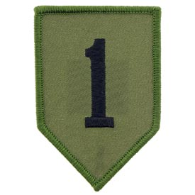 1st Infantry Division OD Subd Army Patch - HATNPATCH