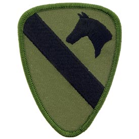1st Cavalry Division OD Subd Army Patch - HATNPATCH