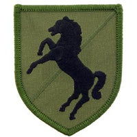 11th ACR Black Horse OD Subd Army Patch