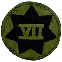 7th Corps OD Subd Army Patch