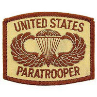 United States Paratrooper Desert Army Patch - HATNPATCH