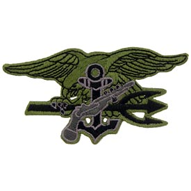Navy Seal Trident OD Subd Patch - HATNPATCH