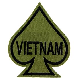 Vietnam Ace of Spades OD Subdued Patch - HATNPATCH
