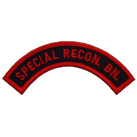 Special Recon Bn Tab Red/Black Patch - HATNPATCH