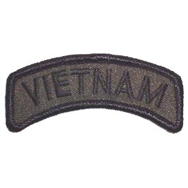 Vietnam Tab Rocker OD Subdued Patch - HATNPATCH