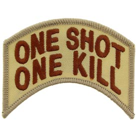 One Shot One Kill Rocker Tab Desert Patch