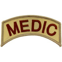 Medic Rocker Tab Desert Army Patch